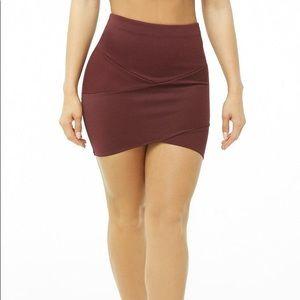 NWOT Forever 21 striped panel mini skirt